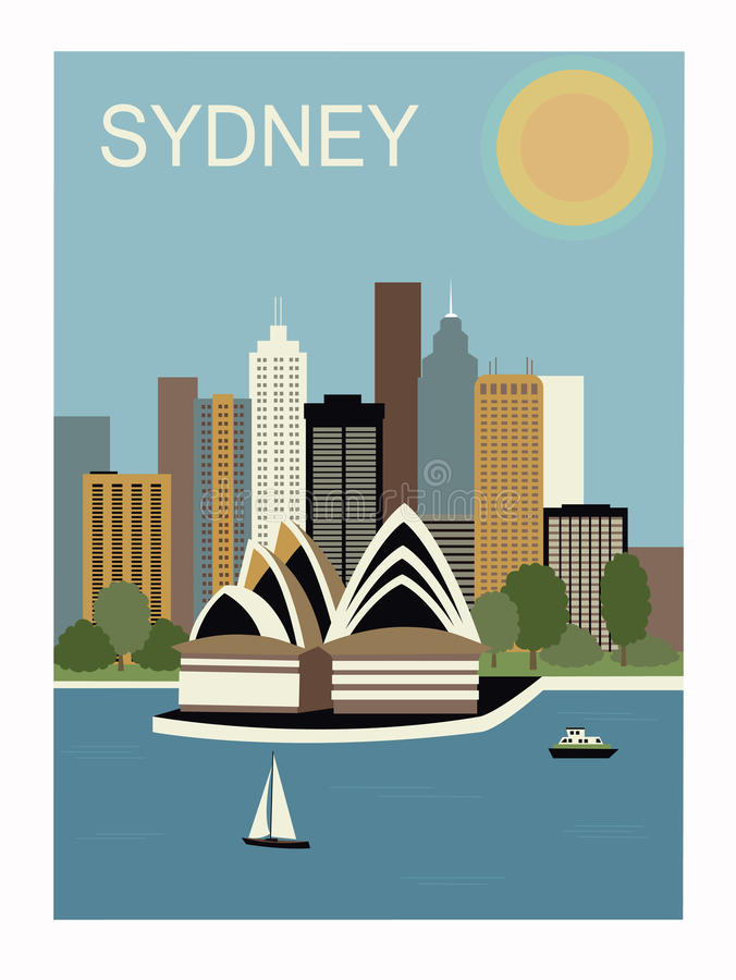 Sydney Australië. vector illustratie
