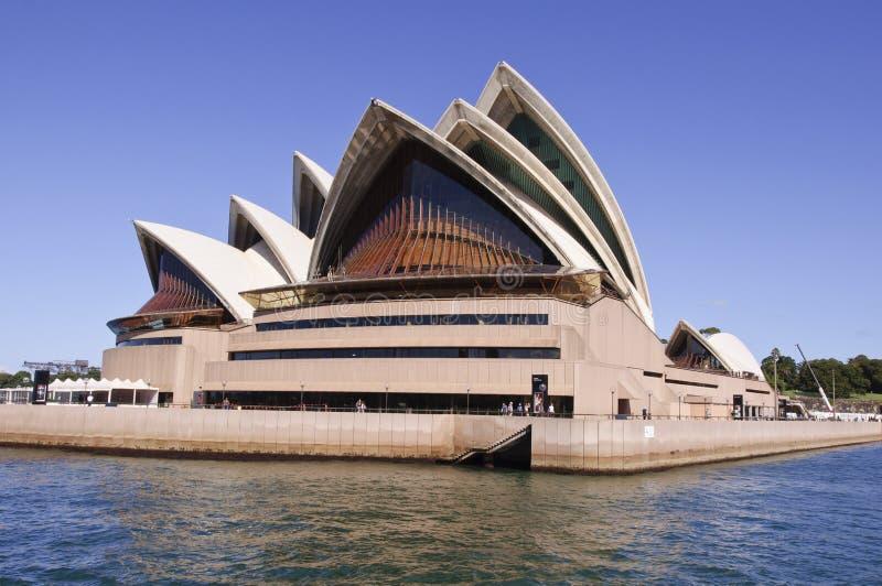 De stad van Sydney in de zomerochtend stock foto