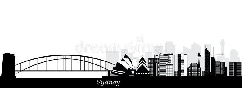 De stad van Sydney in de zomerochtend vector illustratie