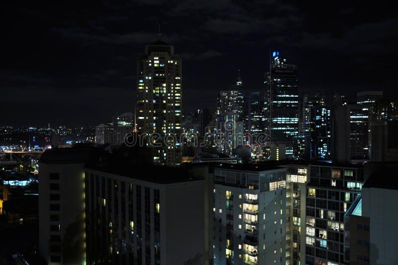 De stad van Sydney in de zomerochtend stock foto's