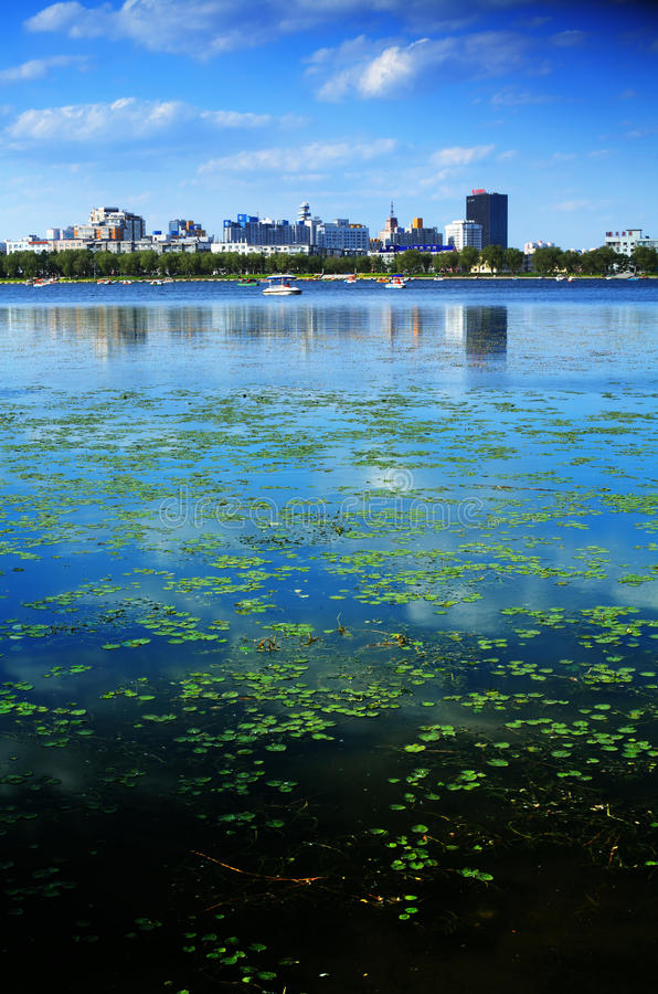 De stad van Tchang-tchoun royalty-vrije stock foto's