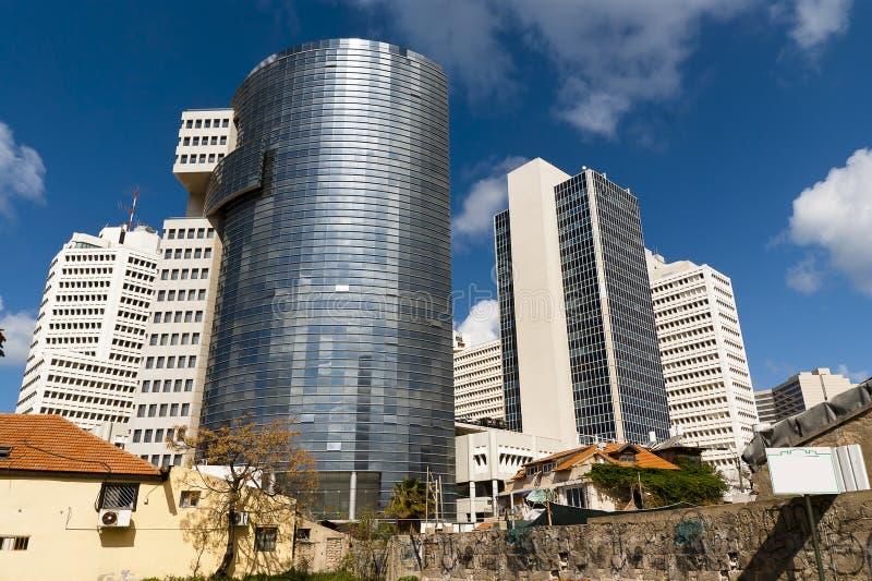 De stad van Tel Aviv Israël onderaan stad royalty-vrije stock foto's