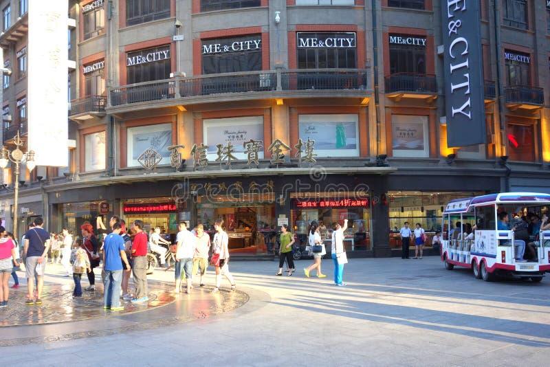 De stad in van Tianjin China royalty-vrije stock foto's
