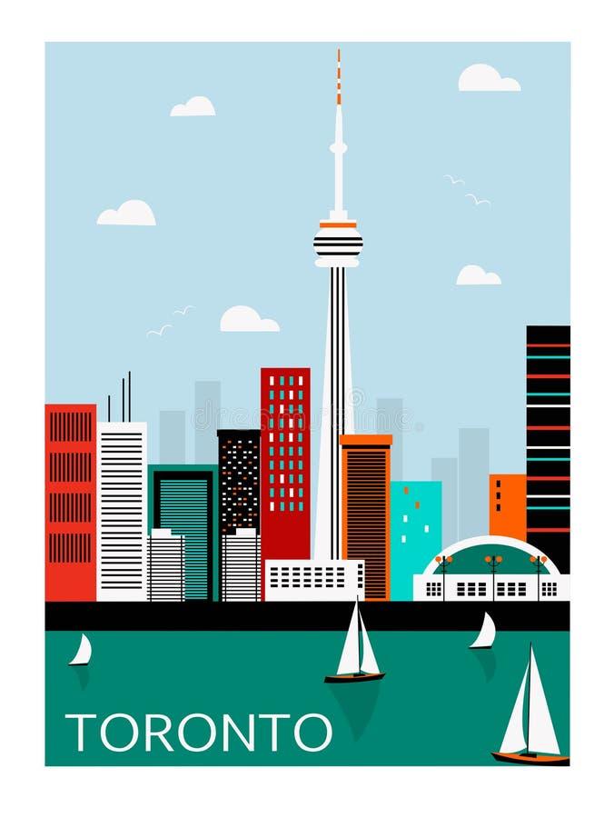 De stad van Toronto canada royalty-vrije illustratie