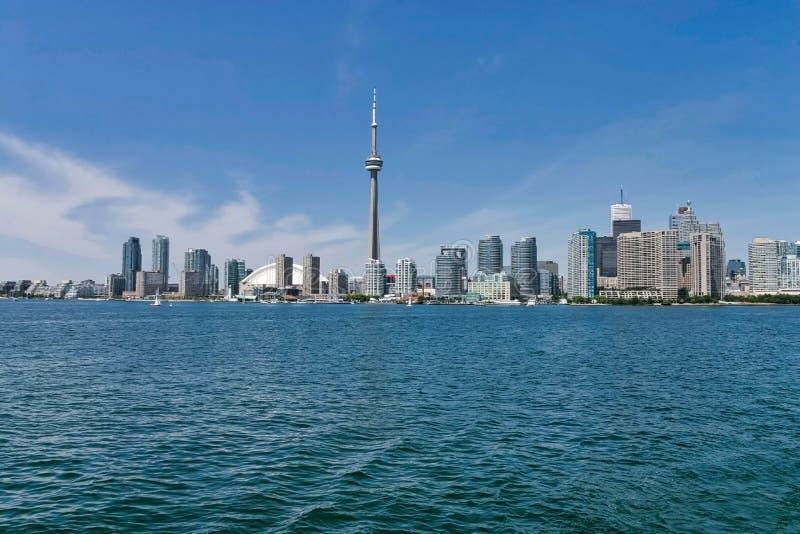 De Stad van Toronto en CN Toren stock foto
