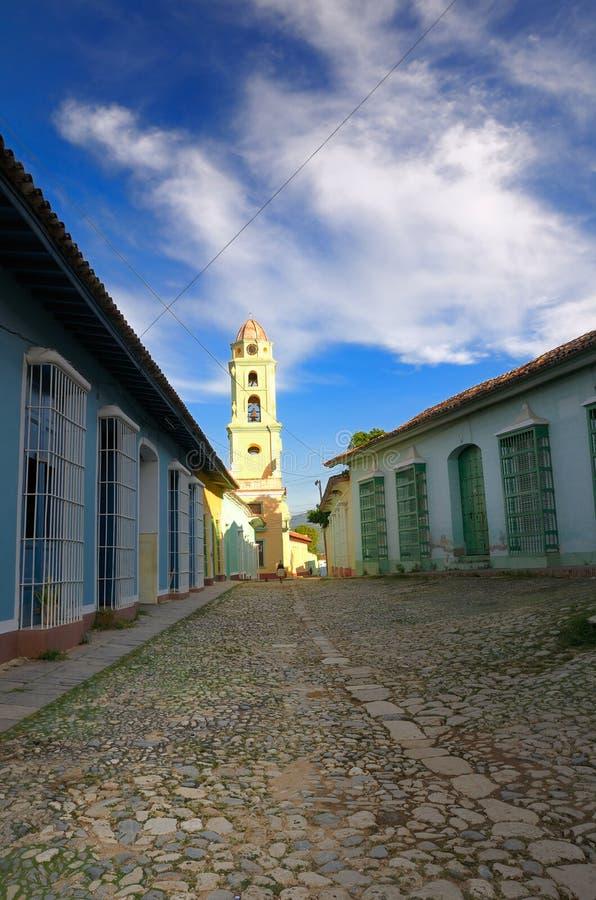 De stad van Trinidad, Cuba stock foto