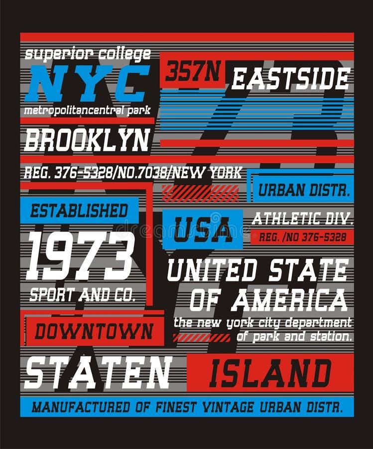 De Stad van typografienew york, royalty-vrije illustratie