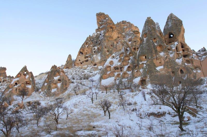 De stad van Uchisar royalty-vrije stock afbeelding