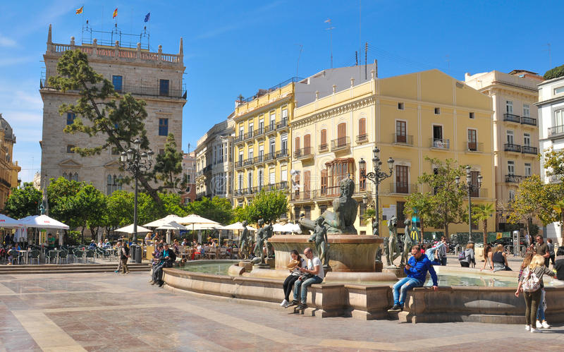 De stad van Valencia, Spanje royalty-vrije stock foto