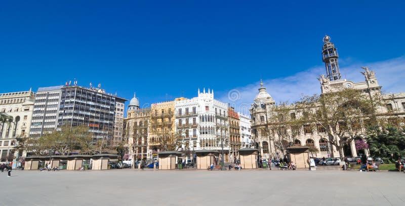 De stad van Valencia, Spanje stock fotografie