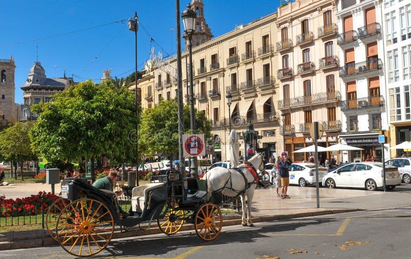 De stad van Valencia, Spanje stock afbeelding