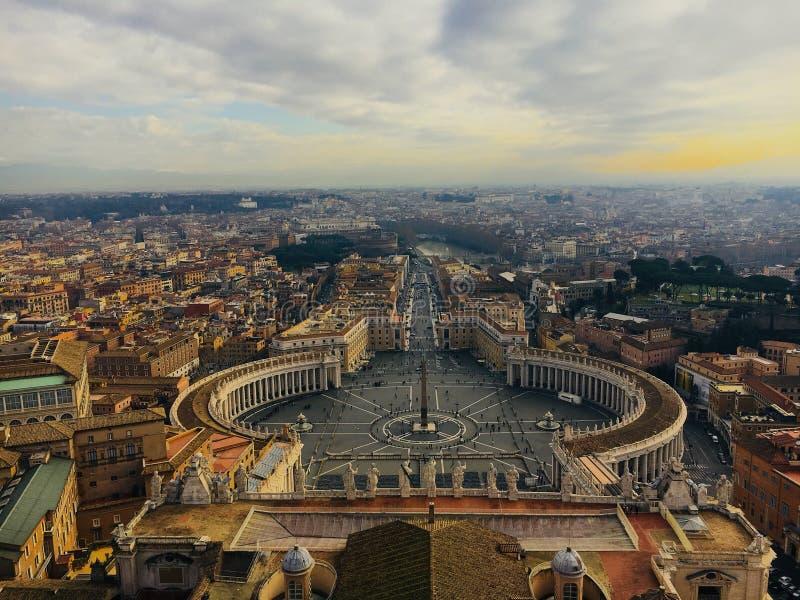 De stad van Vatikaan stock fotografie