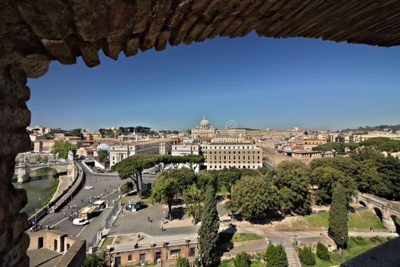 De Stad van Vatikaan en St Peter Basiliek stock fotografie