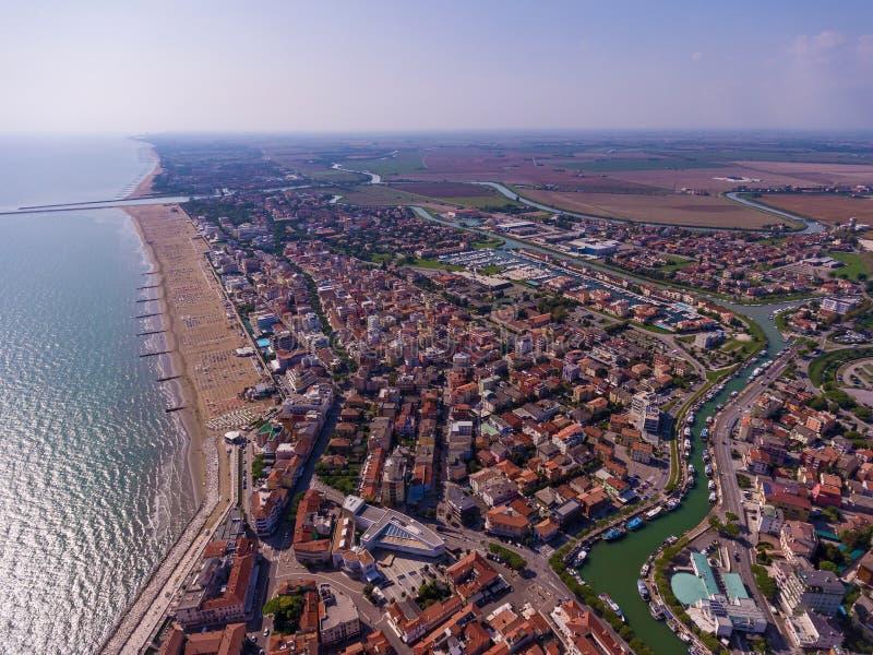 De stad van Venetië van hierboven royalty-vrije stock foto's
