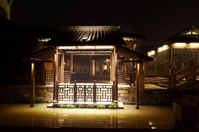 De Stad van Wuzhen bij Nacht royalty-vrije stock afbeeldingen