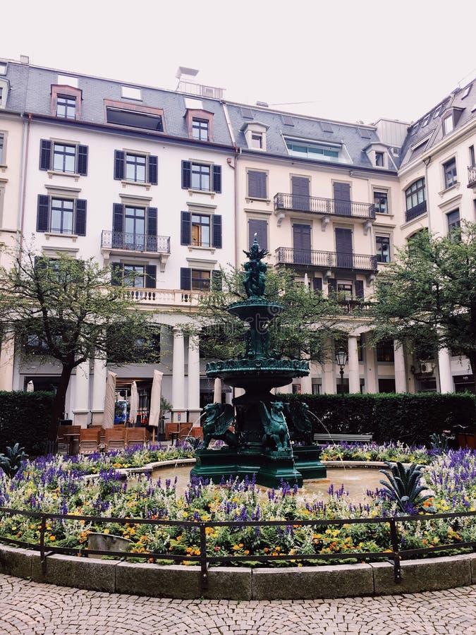 De stad van Zürich, Zwitserland - reis in het concept van Europa royalty-vrije stock afbeelding
