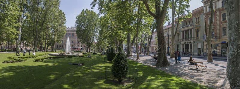 De stad van Zagreb stock afbeeldingen