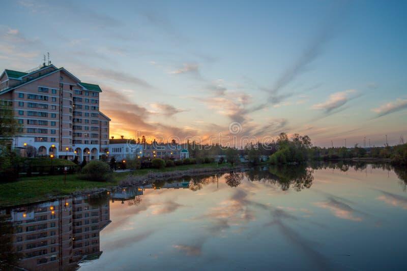 De Stad van Zelenograd moskou Rusland royalty-vrije stock afbeelding