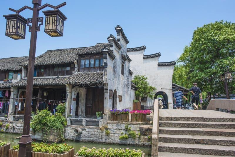 De stad van Zhejianghuzhou Nanxun royalty-vrije stock foto
