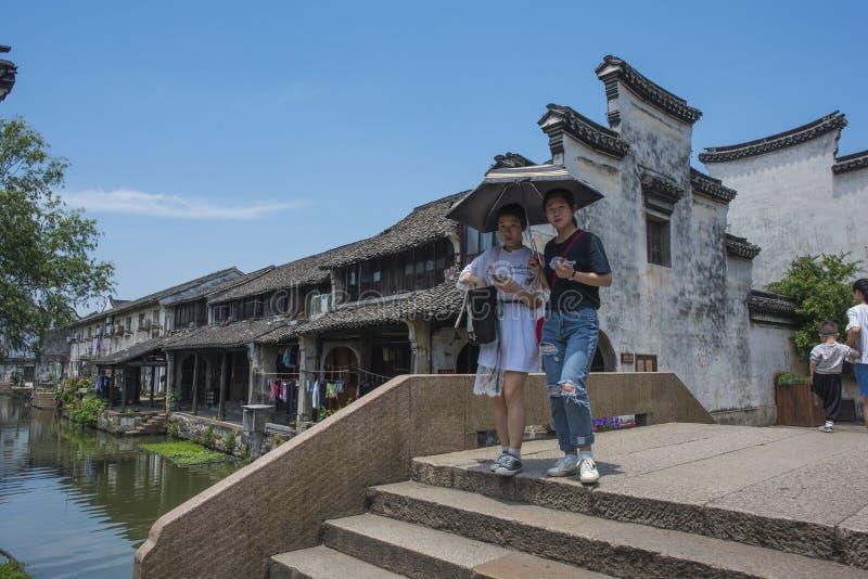 De stad van Zhejianghuzhou Nanxun stock afbeeldingen