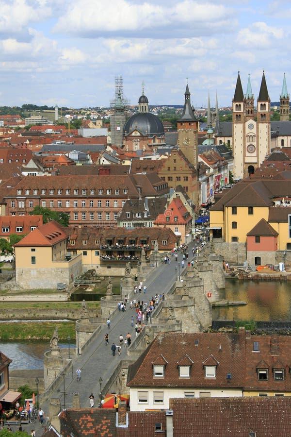 De stad Wurzburg Duitsland van de mening royalty-vrije stock afbeeldingen