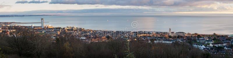 De stad Zuid-Wales van Swansea stock afbeeldingen