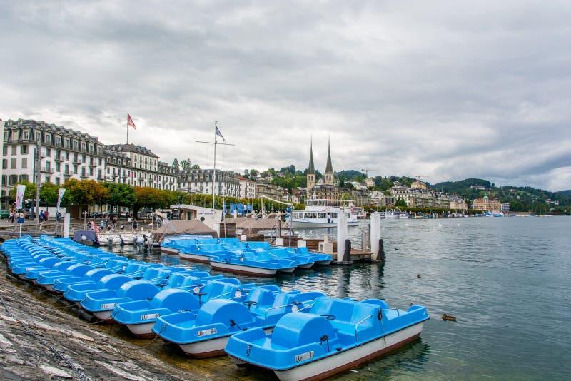 De stad Zwitserland van luzerne stock afbeelding