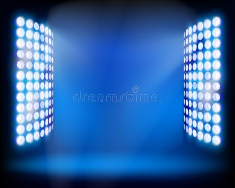 De Stadion lichte torens. Vectorillustratie. royalty-vrije illustratie