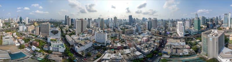 De Stads360â° panorama van Bangkok, Nana en Sukhumvit-Road stock foto