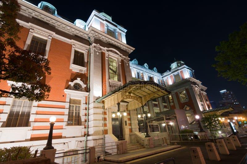 De stads centrale openbare zaal van Osaka royalty-vrije stock foto's