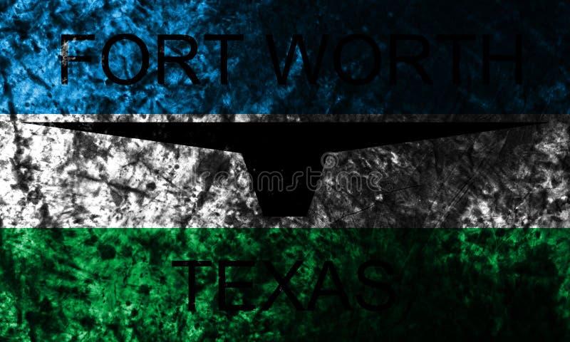 De stads grunge van achtergrond Fort Worth vlag, Texas State, de Verenigde Staten van Amerika royalty-vrije stock foto's