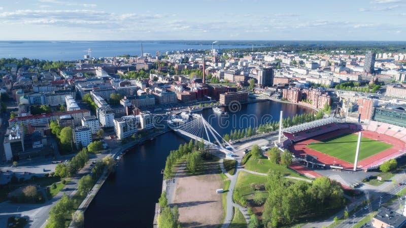 De stads hoogste mening van Tampere royalty-vrije stock afbeelding