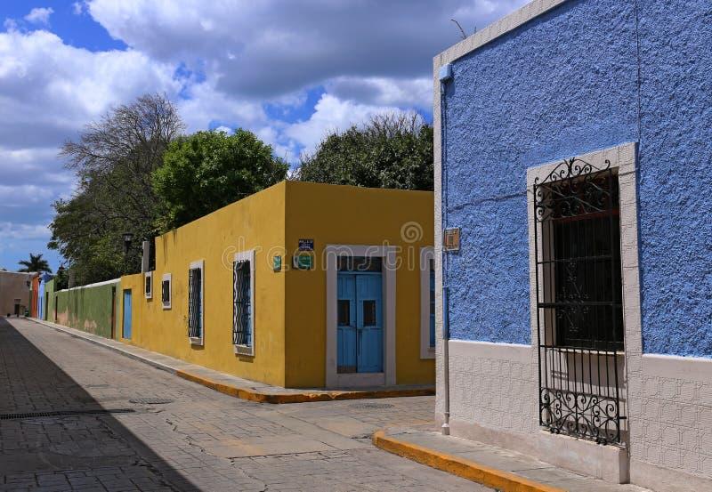 De Stads koloniale architectuur van Campeche, Yucatan, Mexico stock foto's