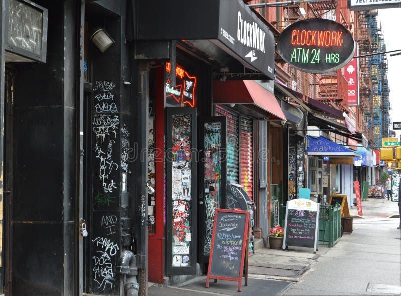 De Stads Lagere de van Oost- New York In Stedelijke Stadsstraat NYC Zij van Manhattan stock afbeelding