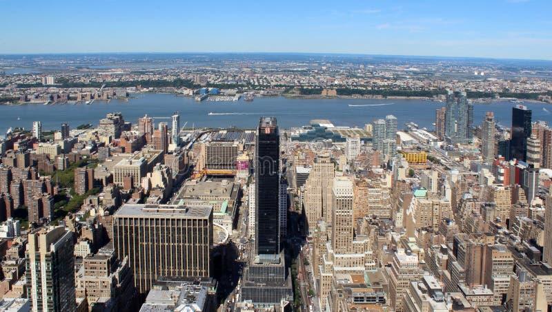 De Stads Luchtpanorama van New York royalty-vrije stock foto's