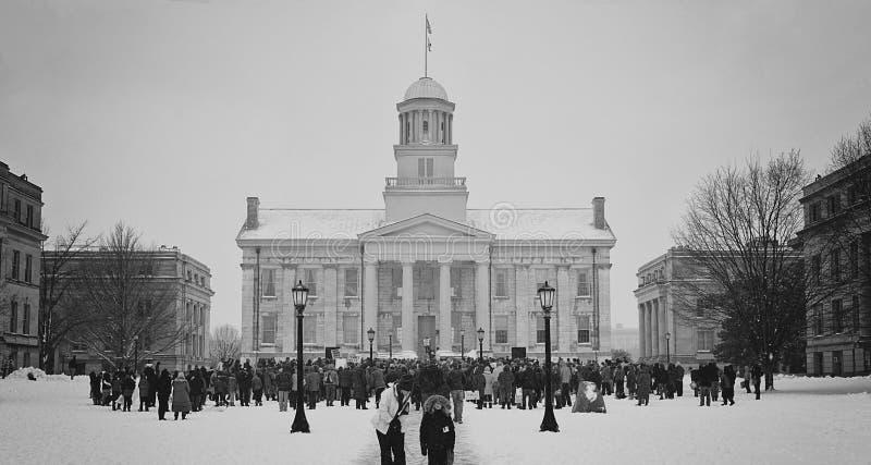De Stads Oud Capitool 2018 van Iowa royalty-vrije stock foto's