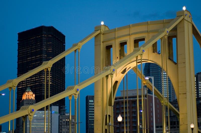 De stadsbrug van het staal royalty-vrije stock afbeelding