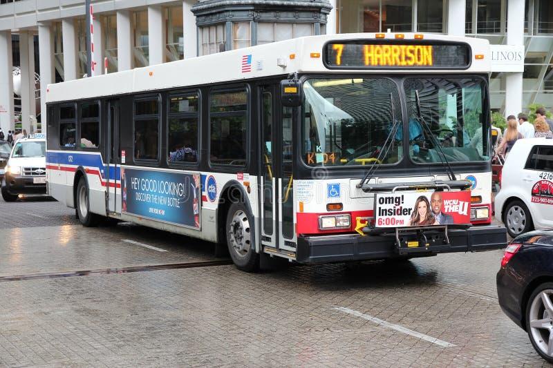 De stadsbus van Chicago stock foto