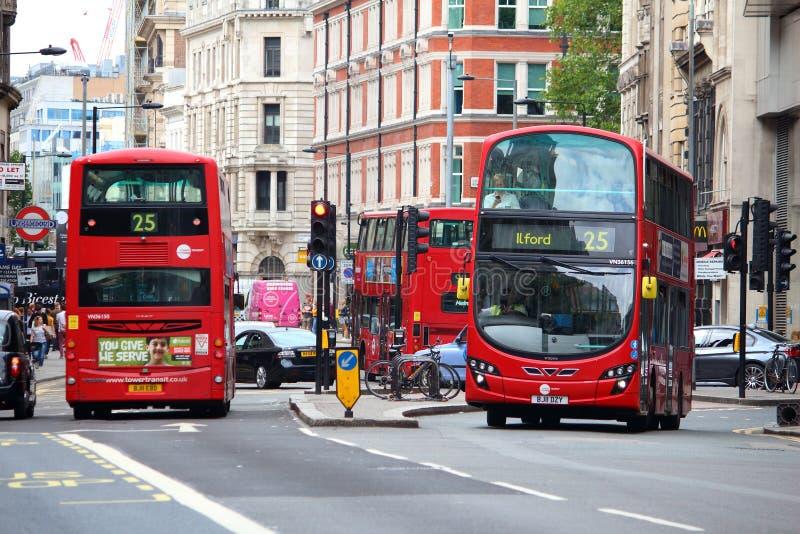 De stadsbussen van Londen royalty-vrije stock afbeelding