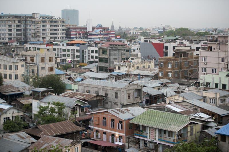 DE STADScentrum VAN AZIË MYANMAR MANDALAY stock foto
