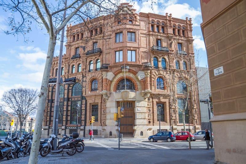 De stadscentrum van Barcelona, Spanje royalty-vrije stock foto's