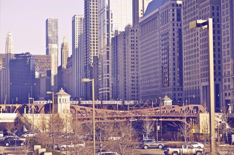 De Stadscentrum van Chicago royalty-vrije stock afbeeldingen