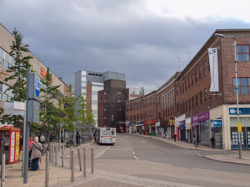 De Stadscentrum van Coventry stock afbeeldingen