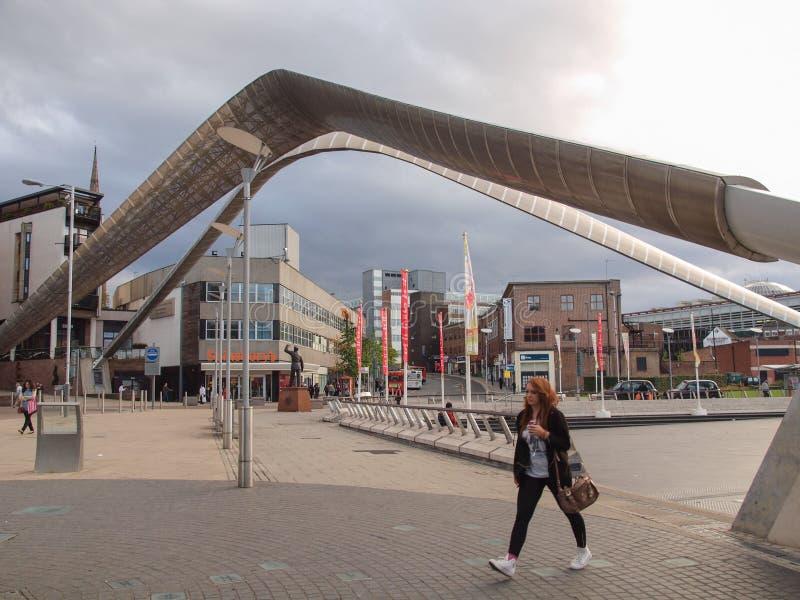 De Stadscentrum van Coventry stock foto's