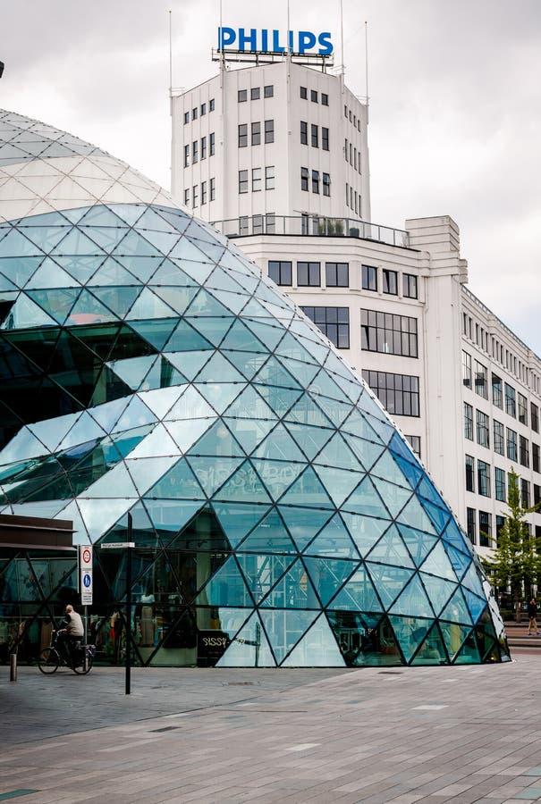 De stadscentrum van Eindhoven nederland stock foto's