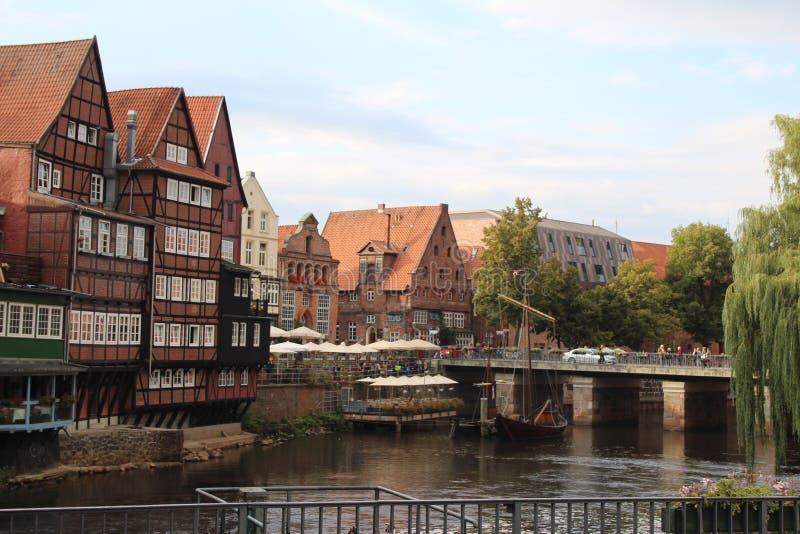 De Stadscentrum van Lüneburg - Duitsland royalty-vrije stock afbeeldingen