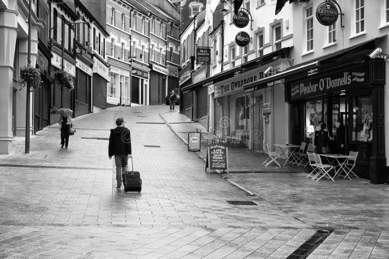 De stadscentrum van Londonderry royalty-vrije stock foto's
