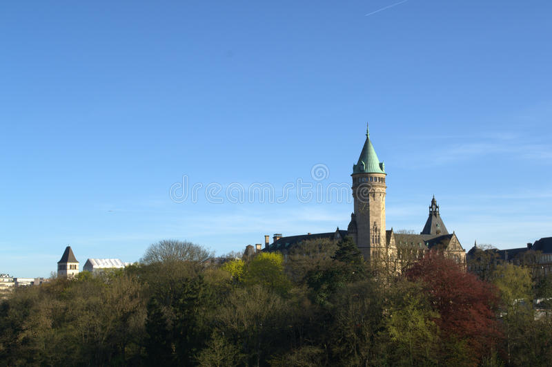De stadscentrum van Luxemburg royalty-vrije stock foto