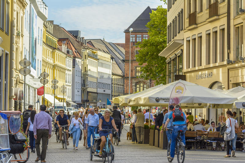 De stadscentrum van München, Beieren, Duitsland royalty-vrije stock foto's