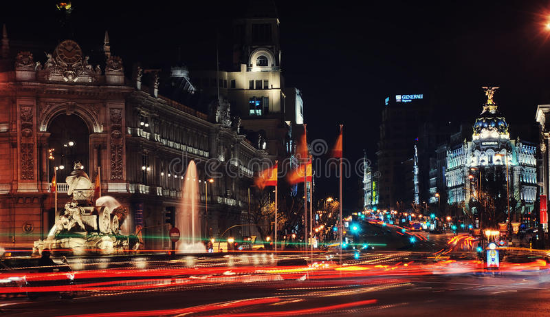 De stadscentrum van Madrid royalty-vrije stock foto